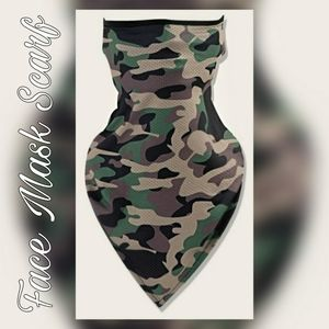 Unisex Face Mask Scarf, Hunting Camo Print Safety